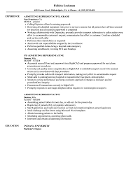 Admitting Representative Resume Samples Velvet Jobs