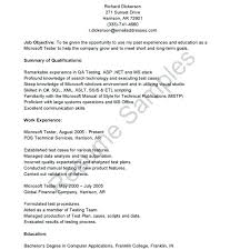 Software Examples For Resume Delectable Manual Testing Sample Resume Software Testing Resume Samples For