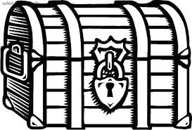 Treasure Coloring Pages Open Treasure Chest Coloring Page Treasure