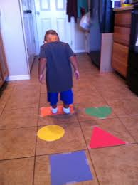 More Colors And Shapes And Taping Construction Paper To The