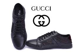 gucci shoes for men black. gucci low top all black lace up cloth shoes for men