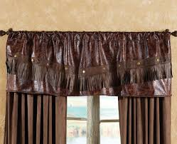 Western Kitchen Distressed Leather Western Valance