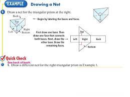 Surface Area Using Nets Worksheet - Checks Worksheet