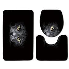 2019 black bathroom mat set cat pattern anti slip bath mat soft foam bathroom rug modern toilet mat sets from hopestar168 31 31 dhgate com