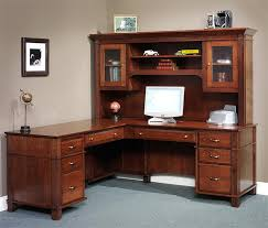 office desk with hutch storage. Arlington Executive L Shaped Desk From DutchCrafters Inside Office With Hutch Design 8 Storage C