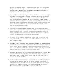How To Write A Self Evaluation With Sample Evaluations Image Titled ...