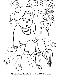 Ice Skating Coloring Pages : Winter Coloring Pages Babar Play Ice ...