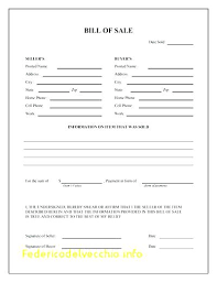 Bill Of Sale For Goods Form Contract Template – Theuglysweater.co