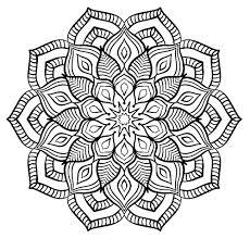 Mandala Grosse Fleur Mandalas Coloriages Difficiles Pour
