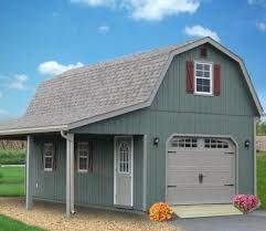 Storage Shed With Garage Door Epic 2 Story Sheds For Your Small At