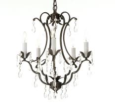 black wrought iron chandelier with crystals light chandelier