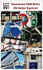 23 best rv solar power images on pinterest Rv Solar Panel Installation Wiring Diagram eddie has his rig really decked out for dry camping including 580 watts of solar panels rv solar panel wiring diagram