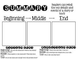 Beginning Middle End Chart By Funny Firsties Tpt