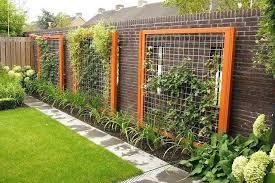 wire garden trellis wood framed wire trellis for side yard against fence outside bedrooms en wire wire garden trellis