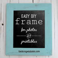 how to build a diy wood frame for photos and printables it s always autumn