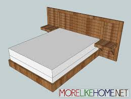 2x4 simple modern bed