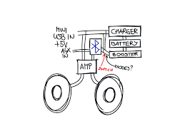 made a bluetooth speaker to match a suitcase diy Bluetooth Wiring Diagram a sketch of my wiring diagram parrot bluetooth wiring diagrams