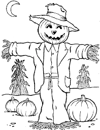 Small Picture Scarecrow Coloring Pages GetColoringPagescom