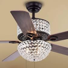 Warehouse Of Tiffany 52 Laure Crystal 6 Light Ceiling Fan
