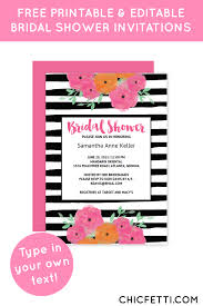 Free Bridal Shower Invite Templates Free Printable Floral Bridal Shower Invitation Templates