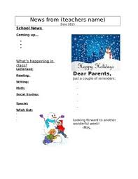 Winter Newsletter Template Worksheets Teaching Resources Tpt