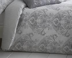 toile fl damask bedding range in grey thumbnail 2