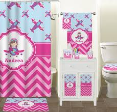 ... Airplane Theme - for Girls Bathroom Accessories Set (Personalized) ...