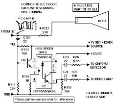 transistor col r tel picture tube driver schematic col r tel inputs at monochrome tv cathode driver