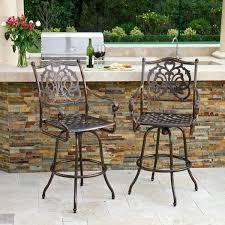 outdoor bar stool set cast aluminum outdoor bar stool set of 2 by knight home outdoor