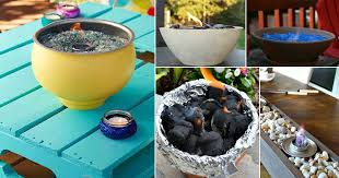 21 warm diy tabletop fire bowl fire pit ideas for small spaces