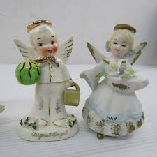 Ceramic Month Angels, March May, June, August etc - shopgoodwill.com