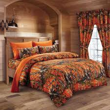 Orange Camo Bed In A Bag Set