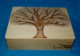 Decorative Memory Boxes Decorative Wooden Wedding Card Box Wood Burned Box Suitcase 2