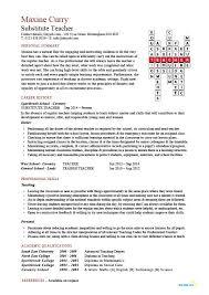 Resume For Substitute Teacher Outathyme Com