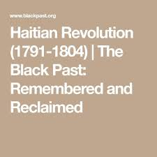 an revolution history population   an revolution 1791 1804 the black past remembered and reclaimed