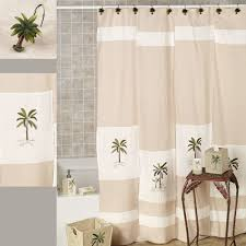 designer fabric shower curtains tropical interior of palm tree shower curtains