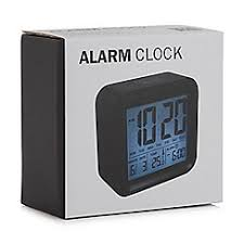 Home Collection   Black Digital Alarm Clock