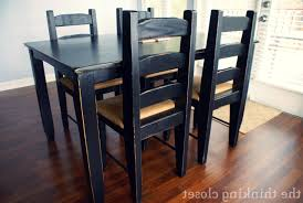 Kitchen Table Makeover Kitchen Black Kitchen Table Within Lovely Black Distressed Table