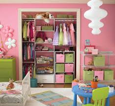 cute kids closet organizer idea for baby girls