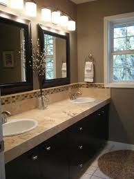 bathroom colors light brown. Delighful Brown Wall Color  Lights Above Mirrors Countertop Cabinets Etc Bathroom To Bathroom Colors Light Brown O