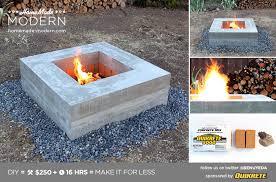 homemade modern diy concrete fire pit postcard