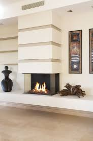 modern 3 sided fireplace google search