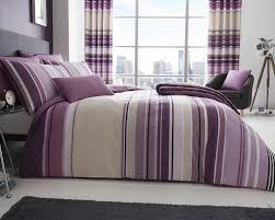 ashcroft stripe duvet set and accessories in mauve duvet sets bedding direct uk