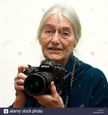 German photographer Evelyn Richter (born 1930) holds a modern ...