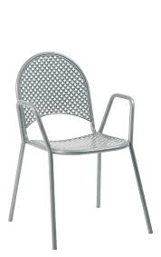 Grey metal powder coated outdoor chair erf of 01 g