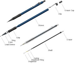 a typical construction of a ratchet based mechanical pencil
