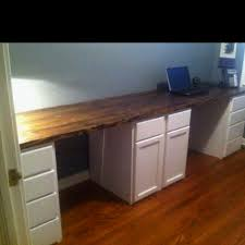 kitchen cabinets for home office. His And Hers Desk We Built This Past Weekend. Unfinished Kitchen Cabinets Make A Great For Home Office T