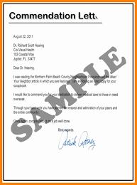 commendation letter sample letter of commendation examples brittney taylor