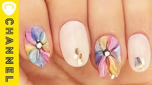 春が待ち遠しくなる大花ネイル Colorful Flower Nail Youtube