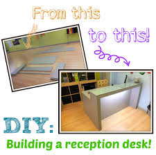 DIY: Building a reception desk!